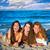 groep · gelukkig · vrienden · oceaan · strand - stockfoto © lunamarina