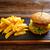 batatas · fritas · mesa · de · madeira · tabela · pão · sanduíche - foto stock © lunamarina