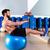 fitball abdominal balance crunch swiss ball man stock photo © lunamarina
