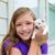 Girl playing with puppy chihuahua pet dog stock photo © lunamarina