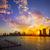 miami downtown skyline sunset florida us stock photo © lunamarina