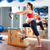 mulher · grávida · pilates · exercer · cadeira · ginásio - foto stock © lunamarina