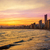 sziluett · naplemente · Spanyolország · égbolt · iroda · épület - stock fotó © lunamarina