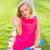 幸せ · 女の子 · ライディング · スクーター · 孤立した · 白 - ストックフォト © lunamarina