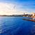 tengerpart · naplemente · Spanyolország · pálmafák · víz · fa - stock fotó © lunamarina