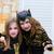 halloween kid girls costume scaring gesture stock photo © lunamarina