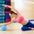 pilates · mulher · sereia · estabilidade · bola · exercer - foto stock © lunamarina
