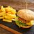 batatas · fritas · mesa · de · madeira · tabela · sanduíche · quente - foto stock © lunamarina