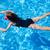 sualtı · küçük · kız · pembe · bikini · mavi · yüzme · havuzu - stok fotoğraf © lunamarina
