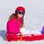 esquiar · esquiador · menina · inverno · férias · neve - foto stock © lunamarina