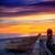 gündoğumu · tekne · plaj · iskele · gökyüzü - stok fotoğraf © lunamarina