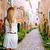 blond tourist girl taking photo mallorca valldemossa stock photo © lunamarina