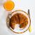 croissant · frambozen · bramen · glas · sinaasappelsap · vers - stockfoto © lunamarina