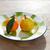 gyümölcsök · mandarin · körte · klasszikus · porcelán · edény - stock fotó © lunamarina
