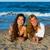 girls friends having fun happy lying on the beach stock photo © lunamarina