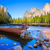 yosemite merced river el capitan and half dome stock photo © lunamarina