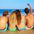 пары · наслаждаться · пляж · цветы · девушки · человека - Сток-фото © lunamarina