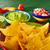 メキシコ料理 · ナチョス · 唐辛子 · 赤 · プレート - ストックフォト © lunamarina