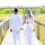 belo · cerimônia · de · casamento · parque · ensolarado · céu · flor - foto stock © lunamarina