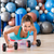 girl at gym push up pushup exercise dumbbells stock photo © lunamarina