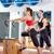 mulher · grávida · pilates · exercer · exercício · ginásio · cadeira - foto stock © lunamarina