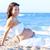 zwangere · vrouw · Blauw · buik · beige · liefde - stockfoto © lunamarina