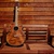 akustik · kahverengi · gitar · ahşap · duvar - stok fotoğraf © lunamarina