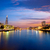 Londra · skyline · tramonto · piazza · città - foto d'archivio © lunamarina