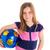 kobiet · piłkarz · portret · szczęśliwy · piłka · nożna · piłka · nożna - zdjęcia stock © lunamarina