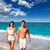 couple young walking in a tropical mediterranean beach stock photo © lunamarina