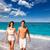カップル · ロマンチックな · 徒歩 · 海浜砂 · 手 - ストックフォト © lunamarina