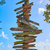 key west beach distance signs to landmarks stock photo © lunamarina