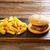 batatas · fritas · mesa · de · madeira · tabela · jantar · sanduíche - foto stock © lunamarina