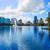 Orlando · sziluett · tó · Florida · USA · pálmafák - stock fotó © lunamarina