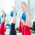 Aerobics pilates women feet  with yoga balls stock photo © lunamarina