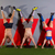 ケトルベル · 逆立ち · 男 · トレーニング · 赤 · ジム - ストックフォト © lunamarina