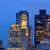 boston skyline at sunset custom tower clock tower stock photo © lunamarina