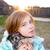 çocuk · köpek · gün · batımı · örnek · erkek · köpek · yavrusu - stok fotoğraf © lunamarina