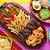 鶏 · ファヒータ · タコス · メキシコ料理 · 唐辛子 · チーズ - ストックフォト © lunamarina