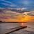 синий · марина · закат · лодках · воды · отражение - Сток-фото © lunamarina