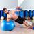 fitball abdominal side push ups swiss ball man stock photo © lunamarina