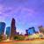 Houston · Texas · modernes · Skyline · coucher · du · soleil · crépuscule - photo stock © lunamarina