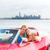 nő · autó · elvesz · tengerpart · utazás · út - stock fotó © lunamarina