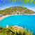 uçurum · ada · gökyüzü · su · deniz - stok fotoğraf © lunamarina