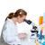 化学 · 室 · 科学 · 女性 · 見える · 顕微鏡 - ストックフォト © lunamarina