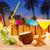 spiaggia · cocktail · tramonto · palma · sabbia · mojito - foto d'archivio © lunamarina