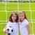 futebol · menina · goleiro · campo · de · futebol · cara · esportes - foto stock © lunamarina