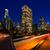 downtown la night los angeles sunset skyline california stock photo © lunamarina