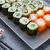 sushi maki and niguiri with california roll stock photo © lunamarina