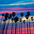 Californie · palmiers · coucher · du · soleil · coloré · ciel · groupe - photo stock © lunamarina